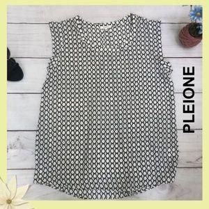 Anthropologie Pleione Hexagon blouse sleeveless